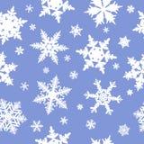 Nahtloses Schneeflockemuster Stockbild