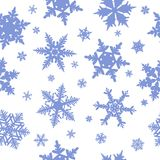 Nahtloses Schneeflockemuster Stockfotos