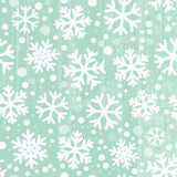 Nahtloses Schneeflockemuster Stockfotografie