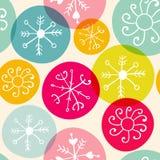 Nahtloses Schneeflocken christmass Vektormuster Stockbilder