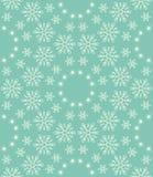 Nahtloses Schneeflockenmuster Stockfotografie