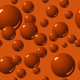 Nahtloses Schokoladen-Luftblasen-Muster Stockfotos