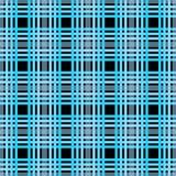 Nahtloses Schottenstoffplaidmuster Karierter Gewebebeschaffenheitsdruck in dunklem graulichem Blau, Marine, hellblauem und Schwar lizenzfreie abbildung