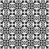 Nahtloses schwarzes Muster auf weißem Hintergrund Lizenzfreies Stockfoto