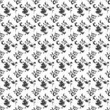Nahtloses schwarzes u. weißes Blumen Stockfotografie