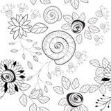 Nahtloses Schwarzweiss-Muster Stockbild