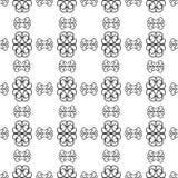 Nahtloses Schwarzweiss-Muster Lizenzfreie Stockfotografie