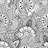 Nahtloses Schwarzweiss-Muster Stockfoto