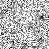 Nahtloses Schwarzweiss-Muster Lizenzfreies Stockbild