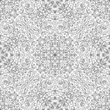 Nahtloses Schwarzweiss-Muster für Malbuch Stockbild