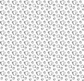 Nahtloses Schwarzweiss-Muster im Gekritzelartkessel, Schale und Stockfotos