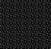 Nahtloses Schwarzweiss-Muster im Gekritzelartkessel, Schale und Lizenzfreies Stockfoto