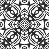 Nahtloses Schwarzweiss-Muster lizenzfreie abbildung