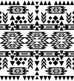 Nahtloses Schwarzweiss-Navajomuster Lizenzfreies Stockfoto