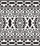 Nahtloses Schwarzweiss-Navajomuster, Vektorillustration Stockbild
