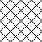 Nahtloses Schwarzweiss-Pixel-Zusammenfassungs-Muster vektor abbildung