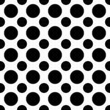Nahtloses Schwarzweiss-Tupfenmuster - Halbtonvektorhintergrunddesign von den Kreisen Stockbilder