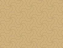 Nahtloses sechseckiges Muster Design hellbraun auf Braun lizenzfreie stockbilder
