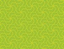 Nahtloses sechseckiges Muster Designgrün auf hellgrünem stockbilder