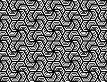 Nahtloses sechseckiges Muster Designweiß auf Schwarzem lizenzfreies stockbild