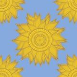 Nahtloses Sonnemuster Stockfotografie