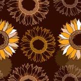 Nahtloses Sonnenblumenmuster für Ihr Design Lizenzfreies Stockfoto