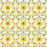 Nahtloses Sonnenblumenvektormuster Lizenzfreie Stockfotografie