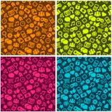 Nahtloses Sozialmedia-Muster Stockfoto