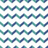 Nahtloses Sparrenmuster Bunter blauer und grüner Zickzack auf weißem Hintergrund Lizenzfreie Stockfotos