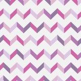 Nahtloses Sparrenmuster Bunter Zickzack in den rosa Farben auf weißem Hintergrund Stockfotografie
