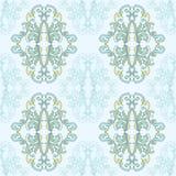 Nahtloses Spitzemuster des Blumendamastes Nahtlose barocke Tapete der Weinlese vektor abbildung