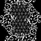 Nahtloses Spitzemuster mit Blumenverzierungen Stockbild