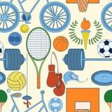 Nahtloses Sportmuster Stockbilder