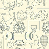 Nahtloses Sportmuster Lizenzfreies Stockfoto