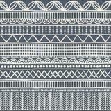 Nahtloses Stammes- Muster im Stil eines boho Hintergrund-Afrikanermotive Lizenzfreie Stockfotos