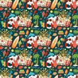 Nahtloses Strand-Muster Stockbilder