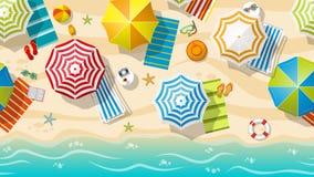 Nahtloses Strandurlaubsort Stockbild