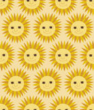 Nahtloses Sun-Muster Lizenzfreie Stockfotografie