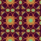 Nahtloses symmetrisches Muster, Beschaffenheit Lizenzfreie Stockfotografie