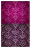 Nahtloses Tapeten-Muster (purpurrot u. dunkel) Lizenzfreies Stockfoto