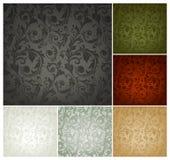 Nahtloses Tapeten-Muster, Set von sechs Farben Stockbild