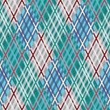 Nahtloses Tartanmuster diagonal Blaue Palette Lizenzfreies Stockfoto