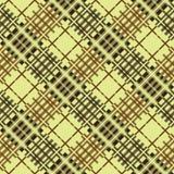 Nahtloses Tartanmuster diagonal Brown-Palette Stockbilder