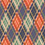 Nahtloses Tartanmuster diagonal Fallpalette Stockbilder