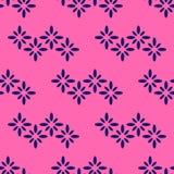 Nahtloses Textilmuster mit Blumenzickzack Stockfotografie