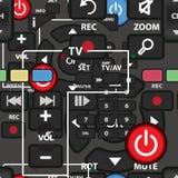 Nahtloses Textilmuster von Kontrollen Fernsehdirektübertragung vektor abbildung