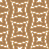 Nahtloses themenorientiertes Hintergrundmuster des braunen und weißen Sternes Stockbild