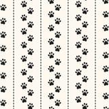 Nahtloses Tiermuster des Tatzenabdruckes Stockbilder