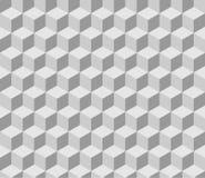 Nahtloses tilable graues isometrisches Würfelmuster Lizenzfreie Stockfotografie