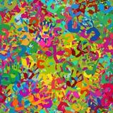 Nahtloses tileable Muster von Handimpressen lizenzfreie stockbilder
